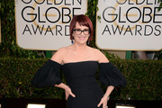Megan Mullally Off-the-Shoulder Dress