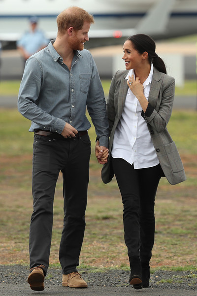 Meghan Markle Ankle Boots [footwear,standing,jeans,suit,outerwear,girl,car,jacket,fun,shoe,harry,meghan markle,sussex,australia,duchess,dubbo airport,cities,duke of sussex,duke and duchess of sussex visit,tour,prince harry,meghan duchess of sussex,wedding of prince harry and meghan markle,duke of sussex,dubbo,sussex,british royal family,royal tours of canada by the canadian royal family,2018]