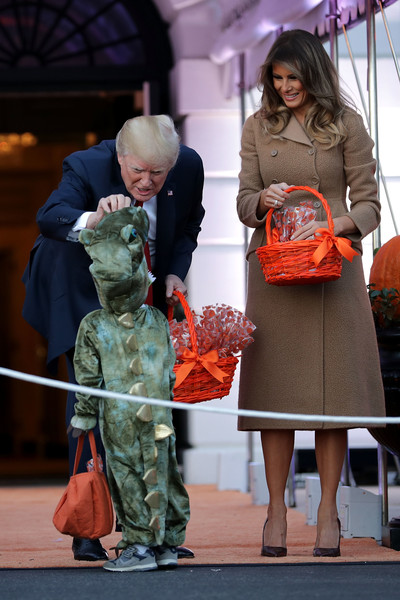 Melania Trump Pumps [fashion,event,performance,costume,flooring,donald trump,first lady,host halloween,president,host,melania trump,the white house,u.s.,l,halloween]