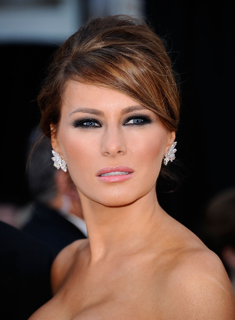 Melania Trump Smoky Eyes Melania Trump Beauty Looks