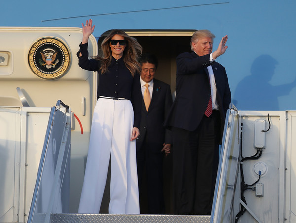 Melania Trump Wide Leg Pants
