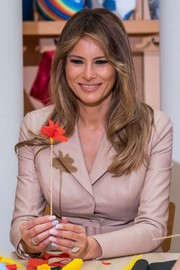 Melania Trump kept it classic with these French tips while visiting the Queen Fabiola Children's Hospital in Brussels.