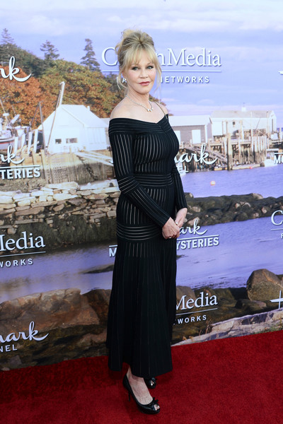 Melanie Griffith Off-the-Shoulder Dress