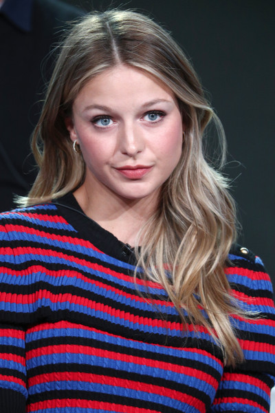 Melissa Benoist Long Wavy Cut [hair,face,blond,hairstyle,eyebrow,beauty,head,lip,chin,brown hair,winter tca,melissa benoist,paramount network,pasadena,waco,california,the langham huntington,portion,winter television critics association press tour]