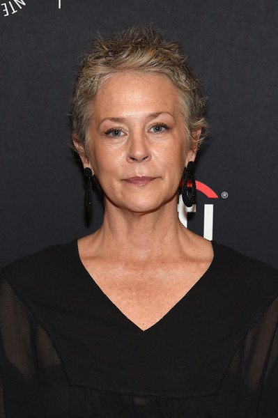 Melissa McBride Messy Cut [ny the walking dead screening and panel,the walking dead,hair,face,chin,hairstyle,eyebrow,cheek,blond,forehead,neck,premiere,panel,melissa mcbride,paleyfest ny,new york city,paleyfest,the paley center for media]