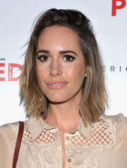 Louise Roe wore her hair in messy layers during Brian Atwood's celebration of PUMPED.