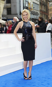 Alice Eve attended the 'Men in Black 3' UK premiere wearing a pair of black heels featuring cool cutouts.