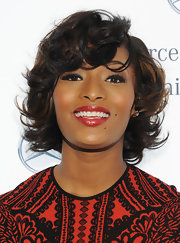Toccara Jones looked fabulous with her short curly hair during Fashion Week.