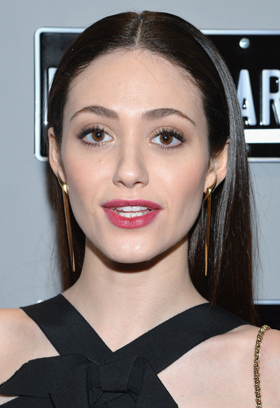 More Pics of Emmy Rossum Long Center Part (1 of 10) - Long Center Part Lookbook - StyleBistro