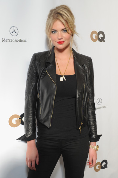 More Pics of Kate Upton Leather Jacket (1 of 21) - Kate Upton Lookbook - StyleBistro