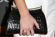 Meredith Monroe Leather Clutch
