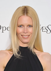 Claudia Schiffer opted for a sleek look at the 'Le Comte Ory' event.