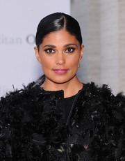 Rachel Roy wore a neat and sleek ponytail when she attended the 'Eugene Onegin' opening.
