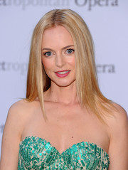 Heather Graham wore her hair sleek straight with a center part when she attended the 'Eugene Onegin' opening.