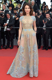 Olga Kurylenko rocked the sheer trend so elegantly with this beaded gown by Elie Saab Couture at the Cannes Film Festival screening of 'The Meyerowitz Stories.'