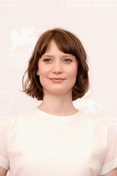 Mia Wasikowska Short cut with bangs