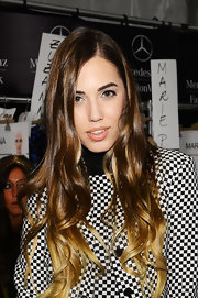 Amber Le Bon wore her gorgeous ombre locks down at the Michael Kors MBFW presentation.
