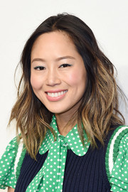 Aimee Song went edgy with these messy ombre waves at the Michael Kors fashion show.