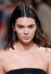 Kendall Jenner sported piecey center-parted layers while walking the Michael Kors fashion show.