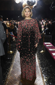 Kate Hudson was a boho beauty in a floral kimono dress by Michael Kors during the brand's Fall 2019 show.