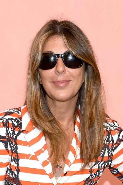 More Pics of Nina Garcia Shirtdress (1 of 5) - Dresses & Skirts Lookbook - StyleBistro [michael kors collection spring 2019 runway show,eyewear,hair,sunglasses,face,hairstyle,glasses,blond,vision care,cool,layered hair,nina garcia,front row,new york city,pier 17]