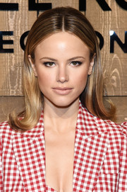Halston Sage looked adorable wearing this flipped 'do at the Michael Kors Fall 2020 show.