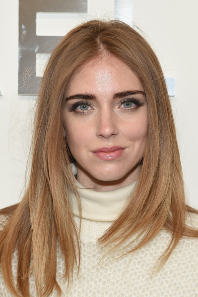 Chiara Ferragni's Long Center Part