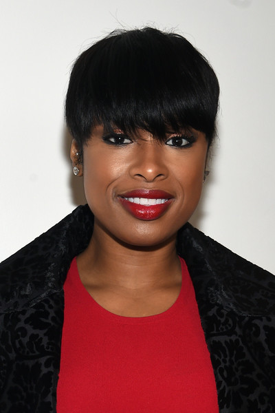 More Pics of Jennifer Hudson Emo Bangs (1 of 22) - Jennifer Hudson Lookbook - StyleBistro [hair,face,hairstyle,black hair,eyebrow,lip,forehead,chin,beauty,bangs,jennifer hudson,backstage,new york city,spring studios,michael kors fall 2016 runway show,new york fashion week,the shows]