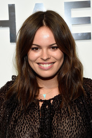 Atlanta de Cadenet looked cute at the Michael Kors fashion show wearing this boho wavy hairstyle.
