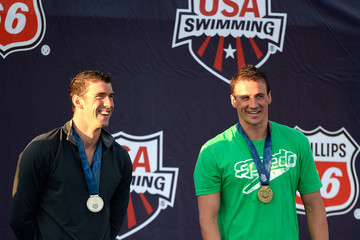 Michael Phelps Ryan Lochte 2014 Phillips 66 USA National Championships: Day 1