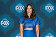 Michaela Conlin Metallic Clutch