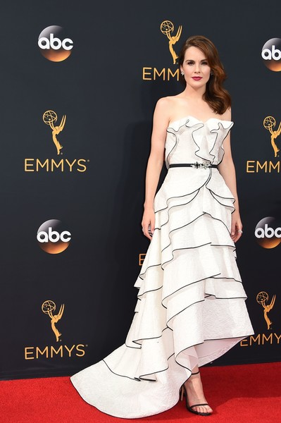 Michelle Dockery Strapless Dress