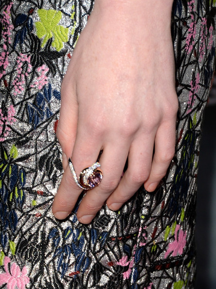 Michelle Dockery Gemstone Ring [nail,finger,hand,ring,jewellery,fashion accessory,nail care,joint,manicure,plant,arrivals,michelle dockery,jewelry detail,regency village theatre,california,studiocanal,universal pictures,westwood,premiere,premiere]