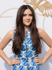 Isabelle Fuhrman looked mildly boho with her long center-parted 'do at the LoveGold luncheon.