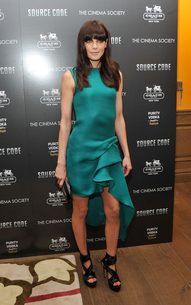 Michelle Monaghan Platform Sandals [source code,clothing,cocktail dress,dress,fashion model,fashion,footwear,carpet,red carpet,shoe,fashion design,arrivals,michelle monaghan,coach,screeing,crosby street hotel,new york city,cinema society coach,host a screening]