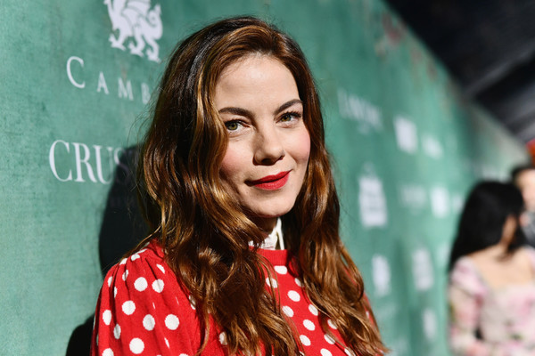 Michelle Monaghan Red Lipstick [women in film pre-oscar cocktail party,hair,face,lip,hairstyle,long hair,fun,brown hair,smile,style,11th annual women in film pre-oscar cocktail party,stella artois,johnnie walker,michelle monaghan,support,crustacean beverly hills,max mara,lancome,red carpet]