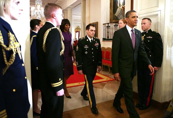 President Obama Confers Medal Of Honor On Former Staff Sgt Clinton Romesha