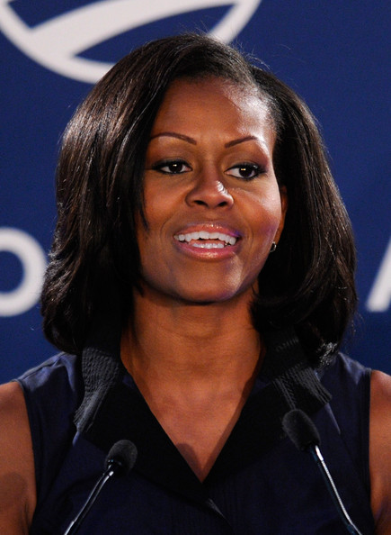 Michelle Obama Medium Straight Cut