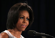 Michelle Obama attended an Agriculture Department event wearing her hair in a classic bob.
