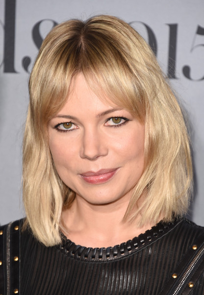 Michelle Williams Medium Wavy Cut with Bangs