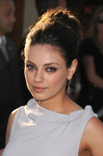 Mila Kunis Beehive [hair,hairstyle,face,eyebrow,beauty,chin,shoulder,lip,fashion,blond,arrivals,mila kunis,los angeles,california,chrysalis butterfly ball]