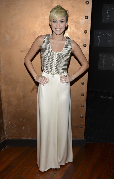 Miley Cyrus Embellished Top