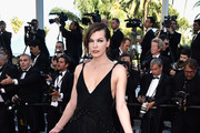 Milla Jovovich Beaded Dress
