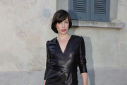 Milla Jovovich Leather Dress