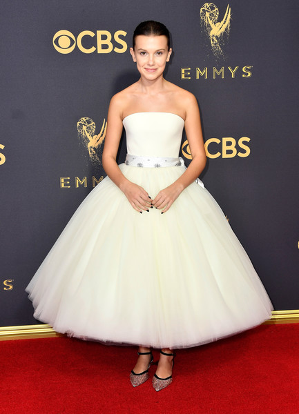 Millie Bobby Brown Strapless Dress