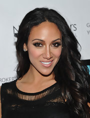 Melissa Gorga attended the premiere of 'Million Dollar Listing New York' wearing metallic bronze and copper eyeshadow.