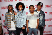 Prodigy sported a cool ombre t-shirt for his red carpet appearance at the 'All Around the World' premiere.
