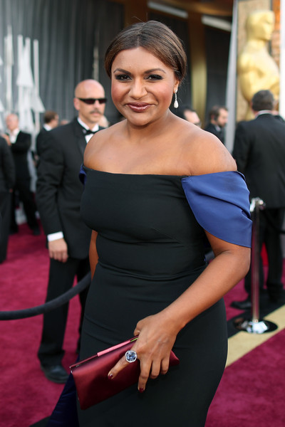 Mindy Kaling Statement Ring [red carpet,red carpet,shoulder,carpet,dress,clothing,joint,hairstyle,beauty,fashion,flooring,mindy kaling,academy awards,hollywood highland center,california,88th annual academy awards]