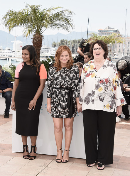 Mindy Kaling Strappy Sandals [inside out photocall,people,yellow,fashion,beauty,event,dress,footwear,fashion design,photography,tourism,actresses,amy poehler,phyllis smith,mindy kaling,cannes,france,cannes film festival]