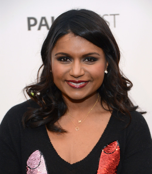 Mindy Kaling Diamond Pendant [the mindy project,hair,hairstyle,eyebrow,black hair,beauty,lip,chin,forehead,long hair,layered hair,mindy kaling,beverly hills,california,saban theatre,paley center for media,paleyfest 2013]